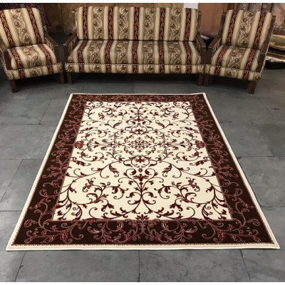 Shalimar Vanilla and Brownie Carpet  (9 ft x 6 ft)